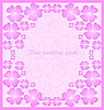 Vector clipart: Beautiful wedding pink frame