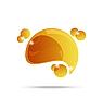 Vector clipart: abstract yellow speech bubble