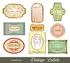 Vector clipart: set retro variation vintage labels