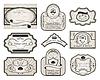 Vector clipart: set of retro vintage labels