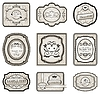 Vector clipart: set of retro vintage labels