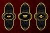набор золото старинных этикеток с элементами дизайна