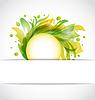 Vector clipart: eco floral transparent background