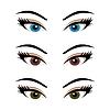 набор женских глаз (3)