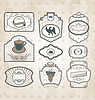 Vector clipart: Set of vintage ornate labels, decor design elements