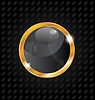 Vector clipart: Golden luxury ball on aluminum