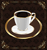 Vector clipart: Cute ornate vintage wrapping for coffee, coffee cup