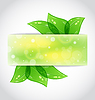 Vector clipart: Green leaves sticking out of cut paper