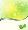 Vector clipart: Ecology card with green leaves