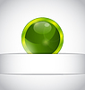 Vector clipart: Abstract eco ball sticking out of cut paper