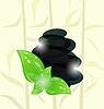 Vector clipart: Meditative bamboo background with cairn stones and
