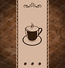Vector clipart: Vintage background for coffee menu, coffee bean texture