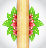 Eco friendly background with green leaves, flower,