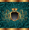 Gold vintage frame with heraldic elements