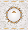 ID 3331853 | Golden vintage with heraldic crown, seamless floral | 向量插图 | CLIPARTO