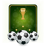 Football layout with champion cup and place for your
