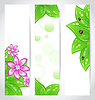 Set of bio concept design eco friendly banners
