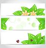 Set of bio concept design eco friendly banners (2)