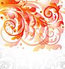 Vector clipart: Floral ornamental card, autumn background