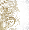 Vector clipart: Christmas card or invitation with abstract floral