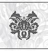 Vector clipart: Damask ornamental background or wallpaper