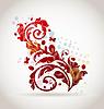Vector clipart: Floral ornamental colorful design elements