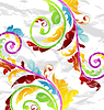 Vector clipart: Abstract multicolor floral background, design