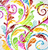 Vector clipart: Abstract multicolor ornamental wallpaper, design