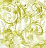 Vector clipart: Floral ornamental background, design elements