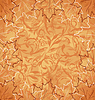 Vector clipart: Autumnal maple, seamless floral background