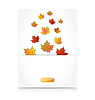 Vector clipart: Fall maple leaves, autumn background