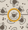 Vector clipart: Seamless background with coffee cups for design