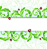 Vector clipart: Eco friendly background with ladybugs