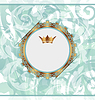 Vector clipart: Royal background with golden ornate frame and