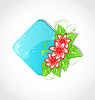 Vector clipart: Bouquet flowers and place for text