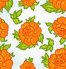 Vector clipart: Cute flower seamless background