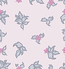 Vector clipart: Cute flower vintage seamless background