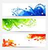 Vector clipart: Set brochure templates with flower frames