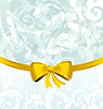 Vector clipart: Christmas floral packing or background with bow