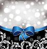 Векторный клипарт: Рождество цветочный фон, орнамент
