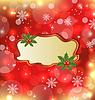 Vector clipart: Template frame with mistletoe for design christmas