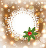 Vector clipart: Christmas greeting card with mistletoe