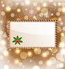 Vector clipart: Illustration Christmas greeting card with mistletoe