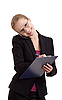 Business woman talking on cell phone | Stock Foto