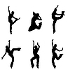 Dancer silhouettes | Stock Illustration