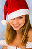 Portrait of Christmas girl | Stock Foto