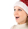 Christmas girl surprised | Stock Foto