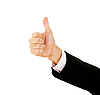 Businessman`s Hand With Thumb Up | Stock Foto