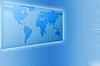 商业世界地图的蓝色调 | 光栅插图