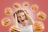 ID 3280157   Diet concept. young woman is under stress   High resolution stock photo   CLIPARTO